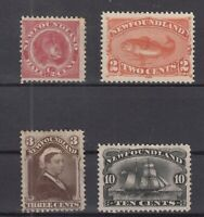 AN5415/ NEWFOUNDLAND – SG # 49 – 51 / 52 – 54 UNUSED – CV 265 $