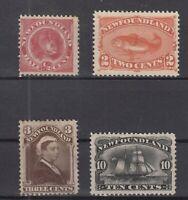 AN5415/ NEWFOUNDLAND – SG # 49 – 51 / 52 – 54 UNUSED – CV 265 $