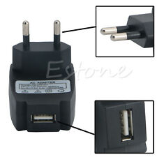 EU Plug Converter AC100-240V To DC5V 1A Wall USB Power Supply Charger Adapter