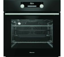 HISENSE BSA5221ABUK Built-in Electric Oven Even Bake & Steam Add Black - Currys