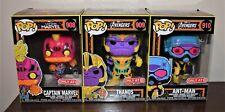 Funko Pop Target Marvel Black Light Thanos Captain Marvel Ant-Man Vinyl Figures
