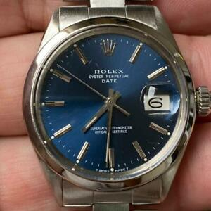 ROLEX OYSTER PERPETUAL DATE 1500 VINTAGE WATCH 100% GENUINE 34MM OYSTER 7835
