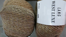600g Wolle Lang Yarns West Luxe Gold Sand Camel Merino Farbverlauf Sockenwolle