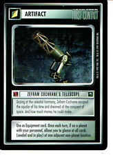 STAR TREK CCG FIRST CONTACT RARE CARD ZEFRAM COCHRANE'S TELESCOPE
