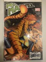 Comic Rare Book Ms Captain Marvel Signed by Greg Horn COA Tiger  Woman #19