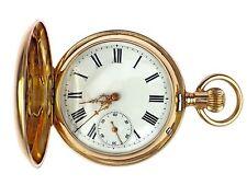 Jugendstil 14 K 585 Gold mechanische Herren Sprungdeckel Taschenuhr 50mm um 1900