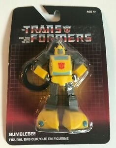 NEW ~ TRANSFORMERS FIGURAL BAG CLIP ~ G1~1980's STYLE ~ BUMBLEBEE ~ HASBRO