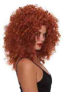 Women's Red Curly Wig