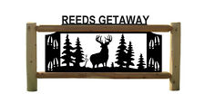 PERSONALIZED WHITETAIL DEER SIGN - CLINGERMANS OUTDOOR SIGNS - WILDLIFE ART
