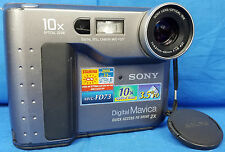 Sony Mavica MVC-FD73 .4 MP Floppy Disk Digital Still Camera Black & Grey AS IS