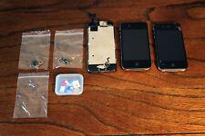 Lot of (3) Apple iPhones for Parts Gen Generation 4, 5S, Sim Cards etc.