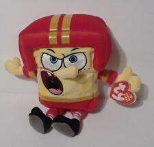 TY SPONGEBOB Quarterback BEANIE BABY Football Plush Stuffed Animal