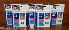 """LOT OF 5 HP 49 (51649A) Large Tri-Color Ink Cartridge (350 Page Yield) """"EXPIRED"""""""