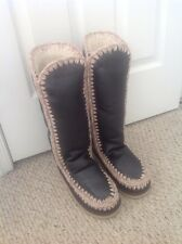 New With Box Mou Eskimo Metallic Tall Boots, Size 8 or 39