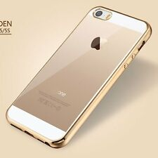 Luxury Clear Soft Silicone Rubber Back Case Cover Skin for New Apple iPhone SE 5