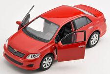 BLITZ VERSAND Toyota Corolla 2009 rot / red  1:34 Welly Modell Auto NEU & OVP