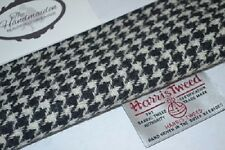 HARRIS TWEED FABRIC & LABELS 100% wool BLACK & WHITE HOUNDSTOOTH scottish 1