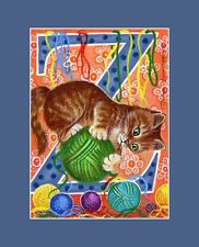 "Alphabet Cat ACEO Print Letter ""Z"" by I Garmashova"