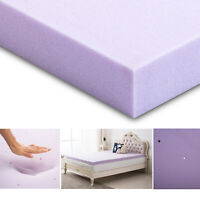 2.5/3 Inch Mattress Topper Gel Memory Foam Lavender Blue Queen King Twin Full
