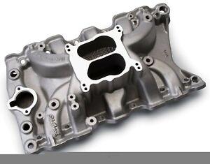 Engine Intake Manifold Performer RPM Olds 350 Edelbrock 7111