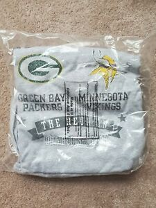 Vintage 10/5/09 Minnesota Vikings Green Bay Packers Brett Favre T-Shirt NEW XL