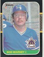 FREE SHIPPING-MINT-1987 Donruss Seattle Mariners Baseball Card #445 Bob Kearney