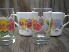 Corelle Dishes Summer Blush Juice Glasses And Cups Mugs 2 Each