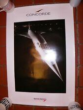 British Airways Concorde large travel agent poster