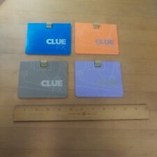CLUE FX Electronic Talking Board Game Replacement Pieces 4 Card Board Folders