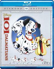 Disney's 101 Dalmatians (Blu-ray/DVD, 2015, Diamond Edition) *New + Slipcover*