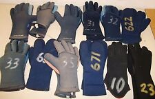 Lot of 12 Sets of Scuba Diving Snorkeling Gloves Blue XS S M L XXL Cuff Grips