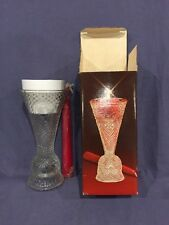 Avon Heart and Diamond Glass Fostoria Convertible Candlestick With Candles