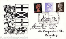"""1967 Definitives-B&W """"bandiere & Shield"""" COVER-Cattedrale di Coventry H / S"""