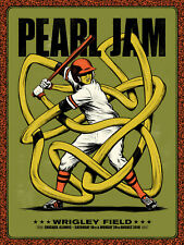 Pearl Jam Poster Wrigley Field Chicago 2018 Tour. Signed + Numbered by Artist