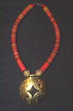 collier ethnique  perles koffi et bronze du Mali  afrique