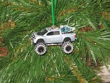 Jada 2006 Nissan Titan Met Blue Pickup Custom Christmas Ornament w/tree,snow G