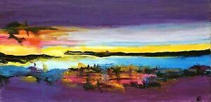 """ Strange Lands"" Original Painting~ De Martino Art"