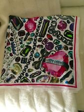 Juicy Couture Diamonds and Bling Silk Scarf/NWOT