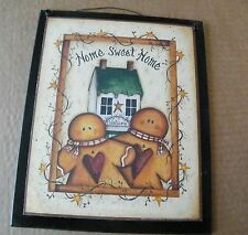 Rustic Kitchen inspirational Gingerbread Man HOME SWEET HOME  decor black sign