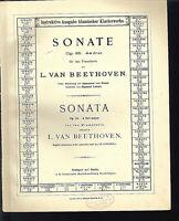 Beethoven : Sonate Op. 26 As dur ~ übergroße alte Noten