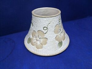 Yankee Candle Large Jar Shade Beige Floral With Ribbed Background Beautiful!