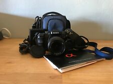 SONY A100 DIGITAL CAMERA-SONY 18-70 MACRO LENS-BATTERY-CHARGER-MANUAL-CASE