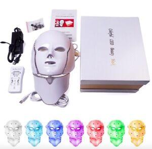 [LED facial Máscara] 7-color LED Facial Mask Anti-Wrinkle Acne Tighten Skin Tool