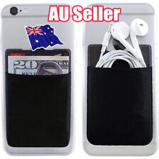 Mobile Smart Phone Lycra Multi Wallet ID Card Holder 3M Adhesive Back Pocket BK