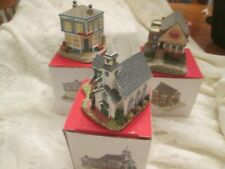 New listing New Unused Vintage Liberty Falls Village The Americana Collection Lot Of 3