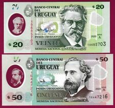 URUGUAY 2020 NEW POLYMER - 20 and 50 PESOS - UNC - P&P FROM UK  *QWC*