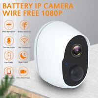 Wireless 1080P WiFi Outdoor IP Camera Security CCTV Battery Waterproof IR Cam KK