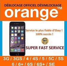 IPHONE CLEAN IMEI Unlock Code Deblocage ORANGE FRANCE INSTANT A 20 Min