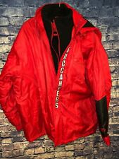 Mens NFL Tampa Bay Buccaneers Two Layer Zip Up Puffer Coat Remove-able Hood
