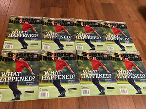 2016 Sports Illustrated Tiger Woods Newsstand Issue Lot Of 8